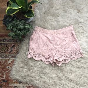 Urban Outfitters Shorts - UO Kimichi Blue Scalloped Lace Shorts